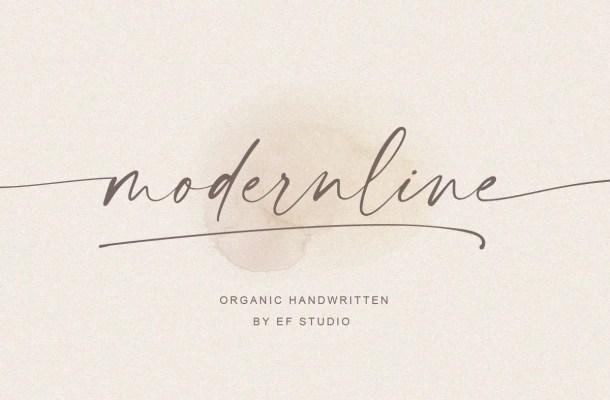 Modernline handwritten font