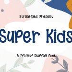 Super Kids Playful Display Font