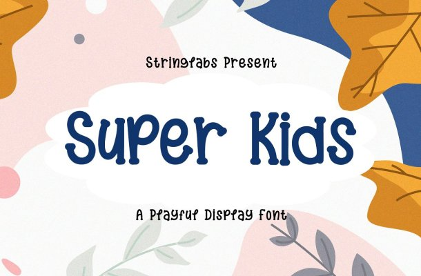 Super Kids Playful Display Font