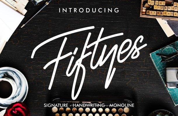 Fiftyes Signature Font Free