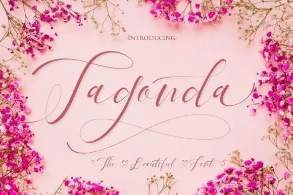 Tagonda Calligraphy Font Free