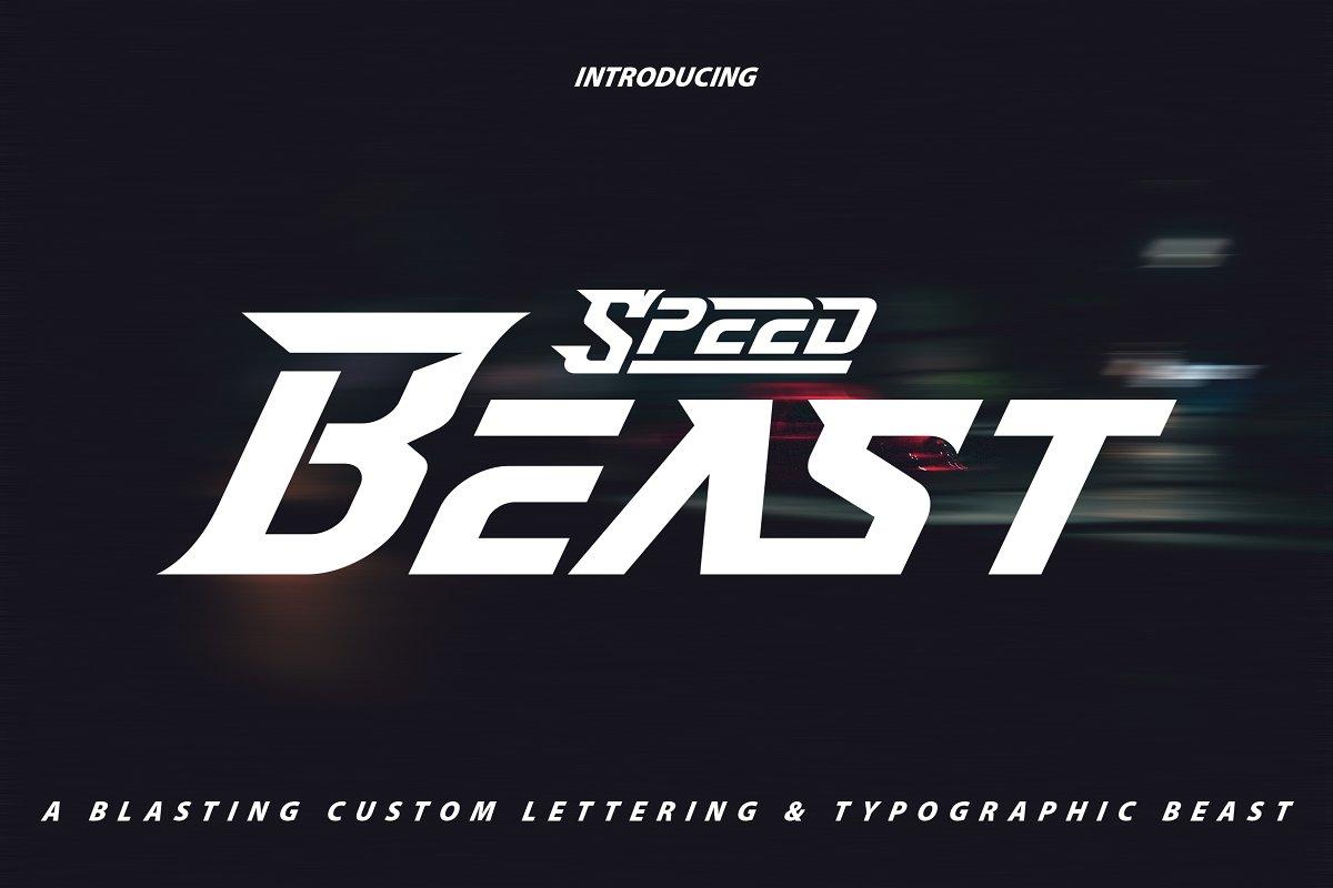 Speed Beast Display Font01