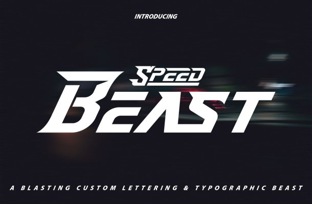 Speed Beast Display Font