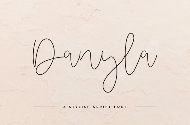 Danyla Stylish Signature Script Font