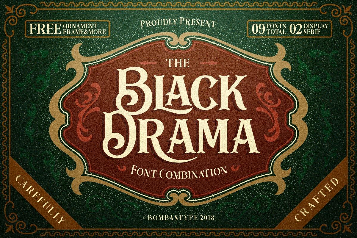 Black Drama Font 01