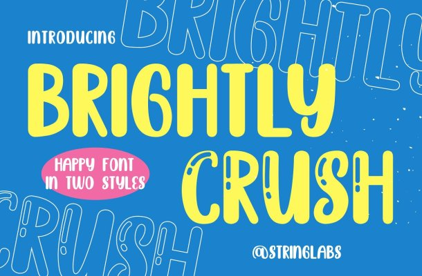 Brightly Crush Playful Typeface