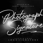 Photograph Signature Logo Font