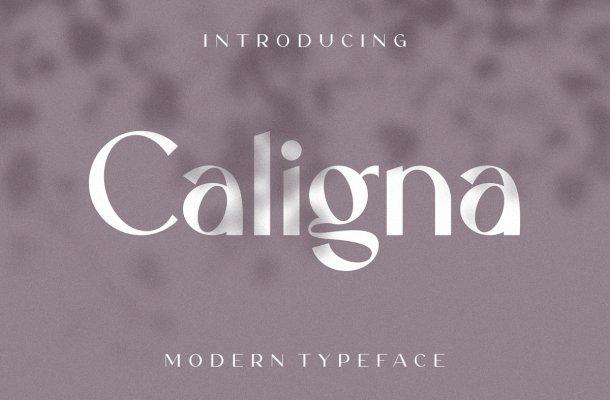 Caligna Modern Sans Serif Typeface