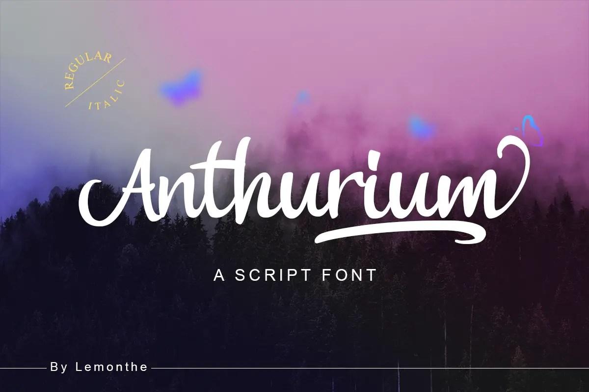 Anthurium Script Font-1