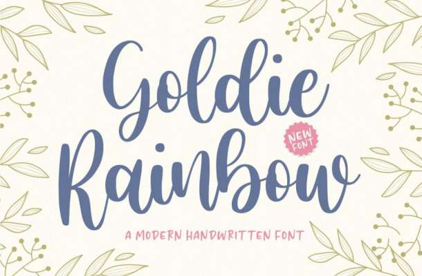 Goldie Rainbow Handwritten Font