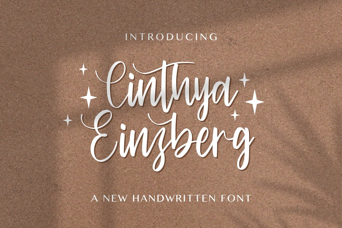 Cinthya Einzberg Handwritten Font-1