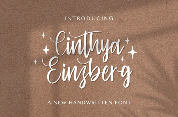 Cinthya Einzberg Handwritten Font