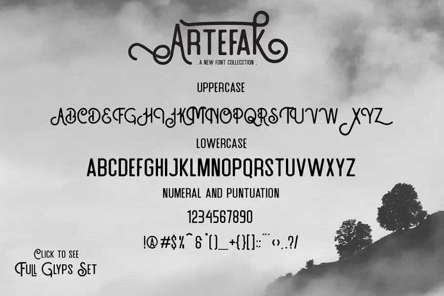 Artefak Vintage Display Font 3