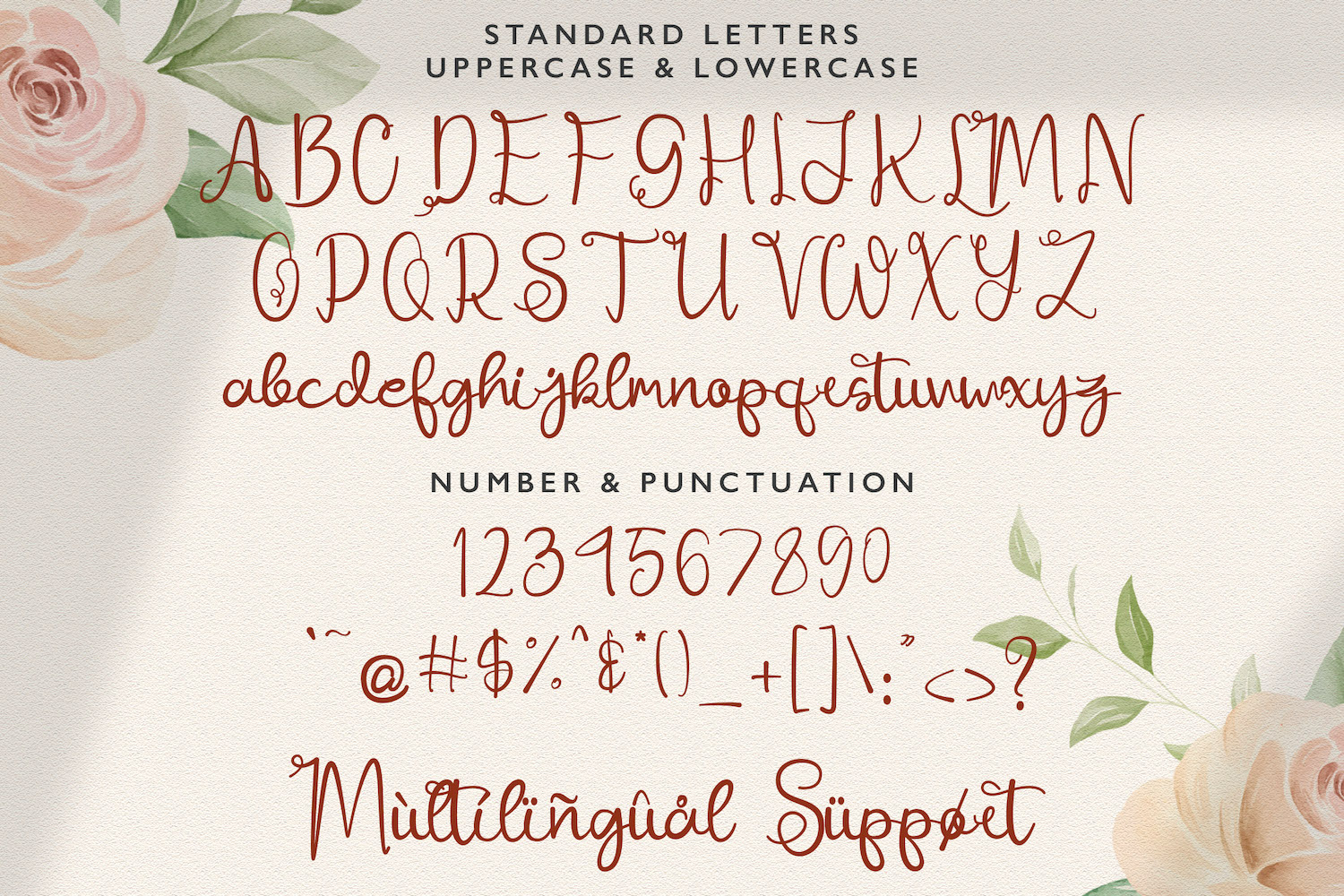 Ajuslly Modern Calligraphy Font03