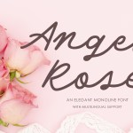 Angel Rose An Elegant Monoline Font