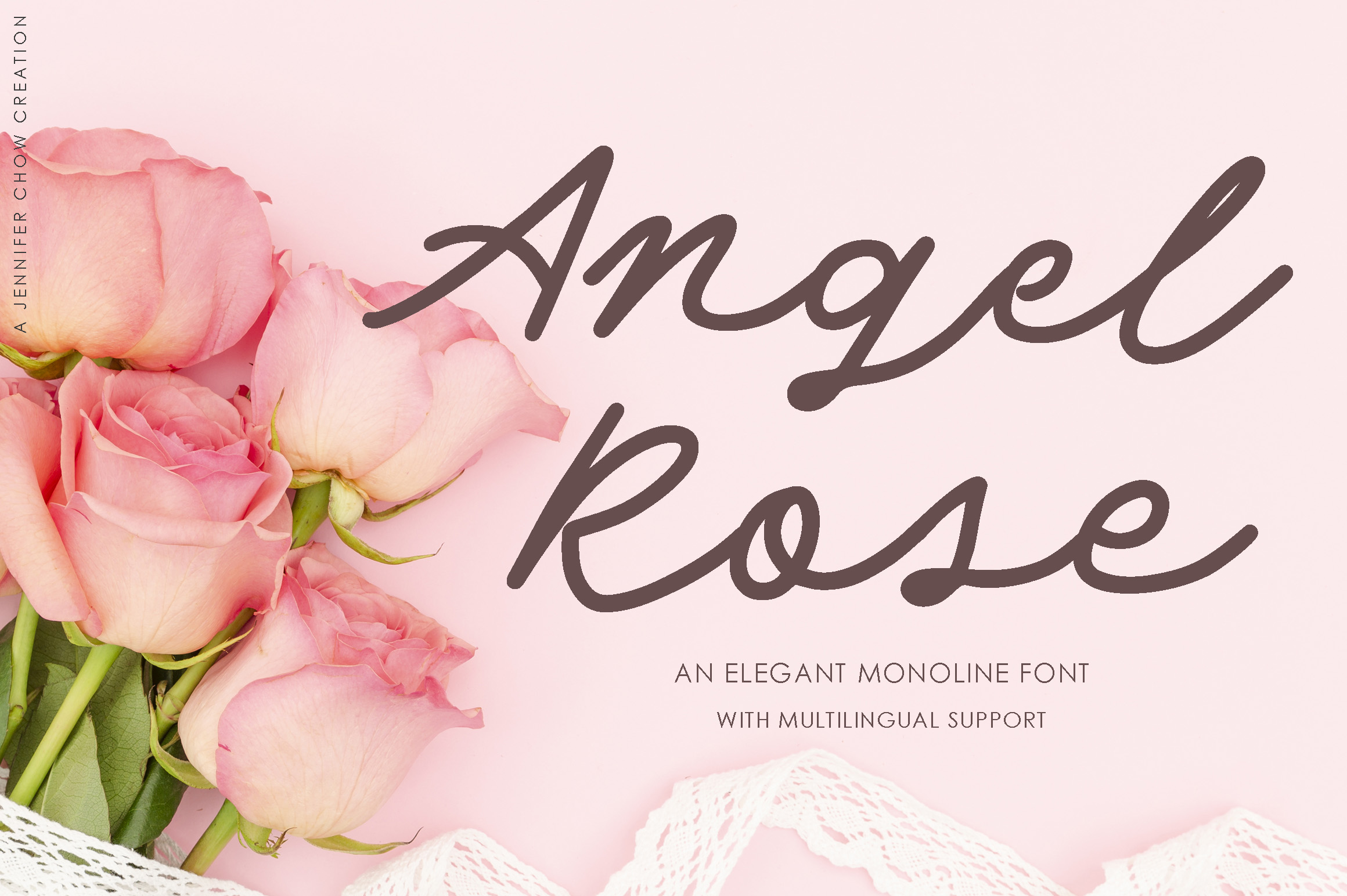 Angel Rose An Elegant Monoline Font-1