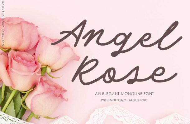 Angel Rose An Elegant Monoline Font