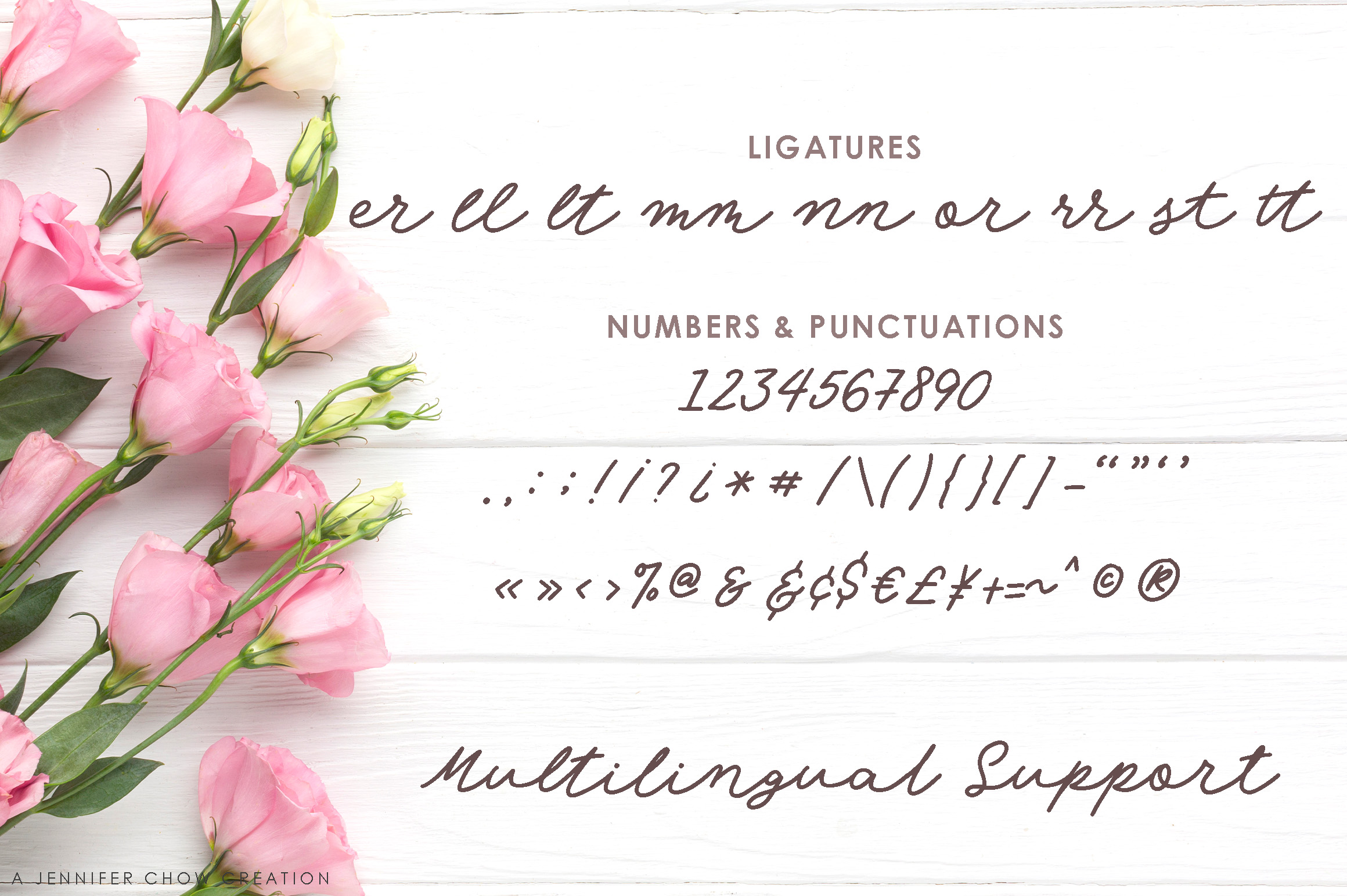 Angel Rose An Elegant Monoline Font-4
