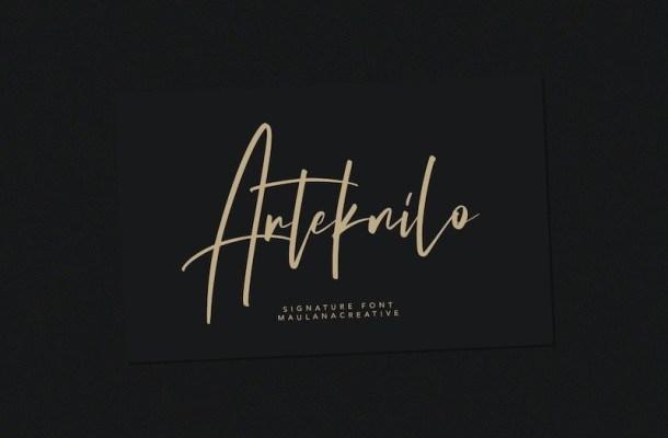 Arteknilo Signature Script Font