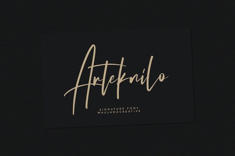 Arteknilo-Signature-Script-Font-1