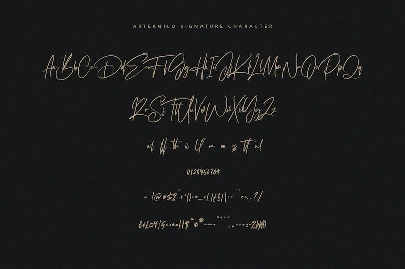 Arteknilo-Signature-Script-Font-3