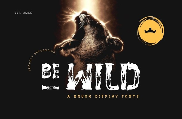 BE-WILD Brush Display Font
