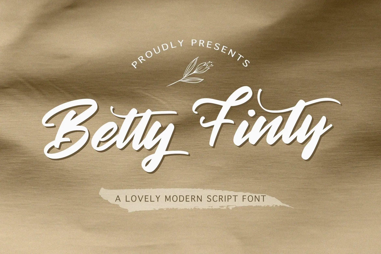 Betty Finty Modern Script Font-1