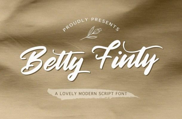 Betty Finty Modern Script Font