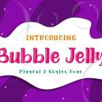 Bubble Jelly  Family Fonts
