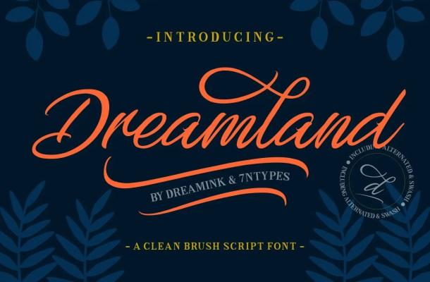 Dreamland Script Font