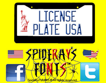 License Plate USA Font
