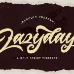 Lazyday Script Font