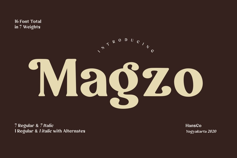 Magzo Serif Font-1