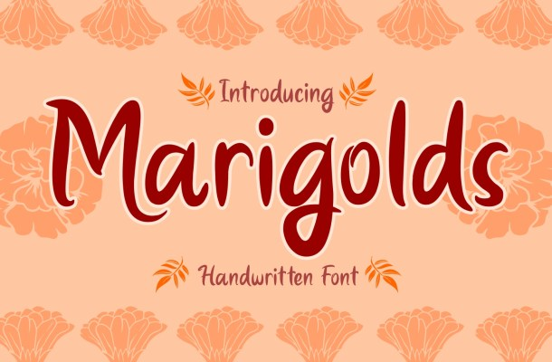 Marigolds Font