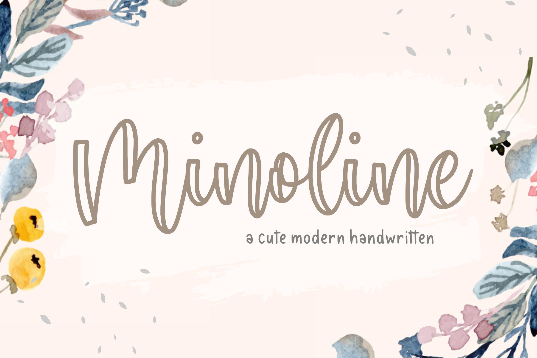 Minoline Cute Handwritten Font-1