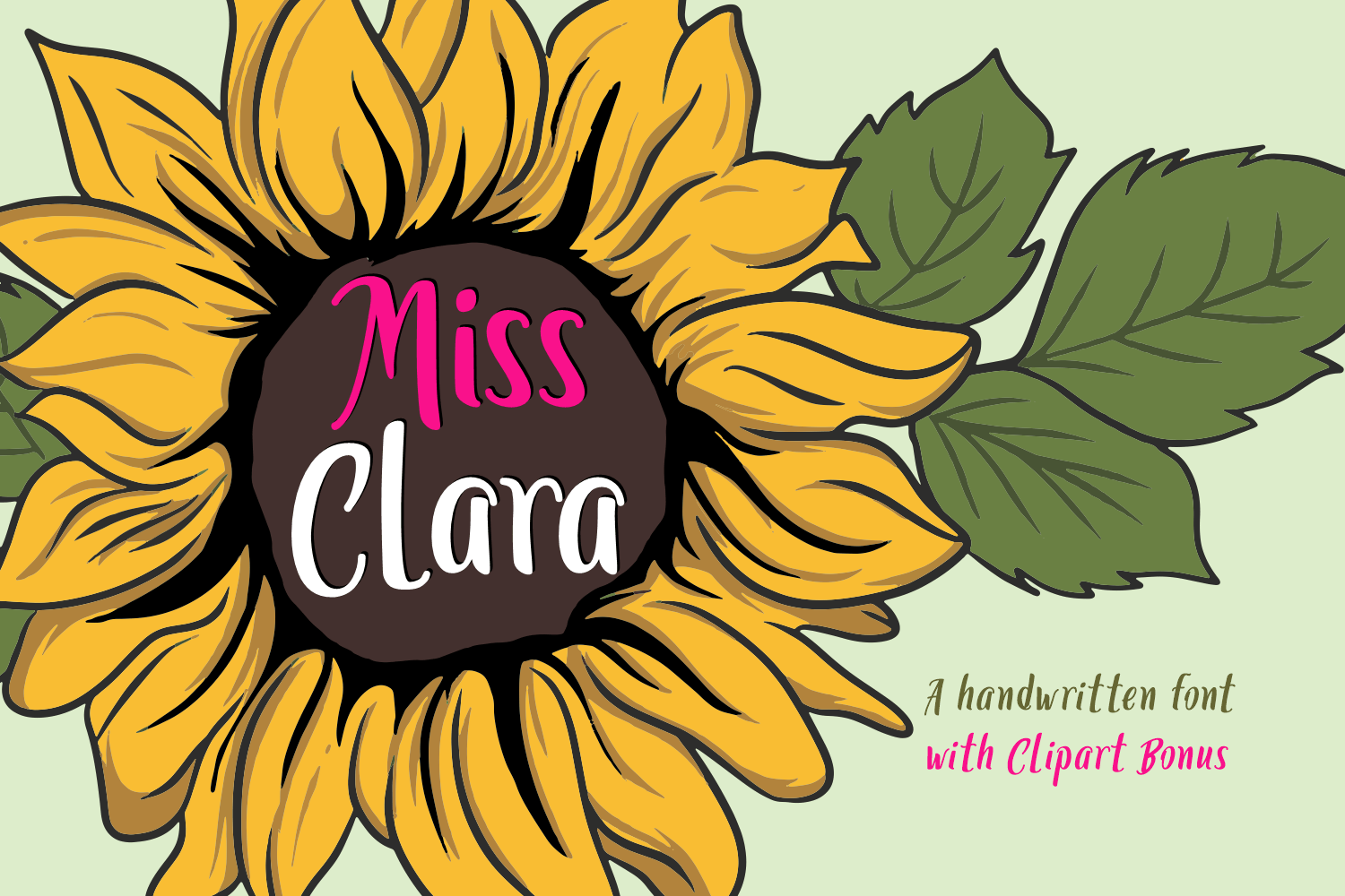 Miss Clara Font by 7NTypes_1
