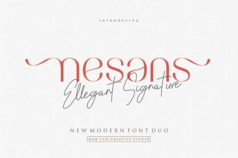 Nesans Sans Serif Font-1