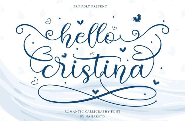 Hello Cristina Script Font