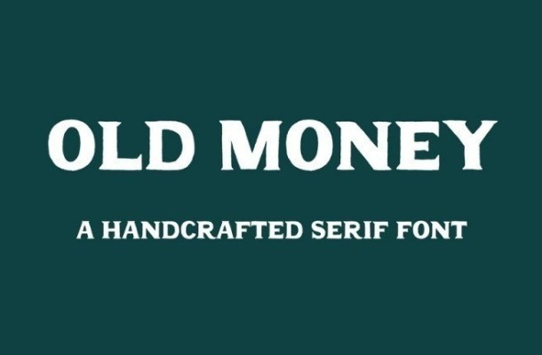 Old Money Display Serif Font