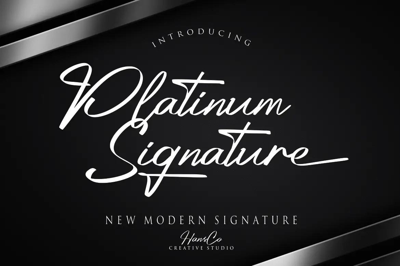 Platinum Signature Script Font-1