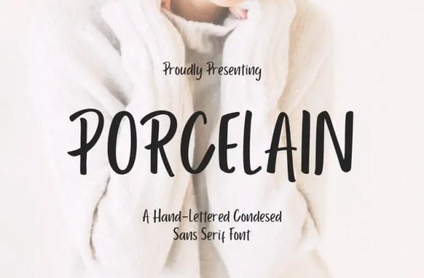 Porcelain Sans Serif Font