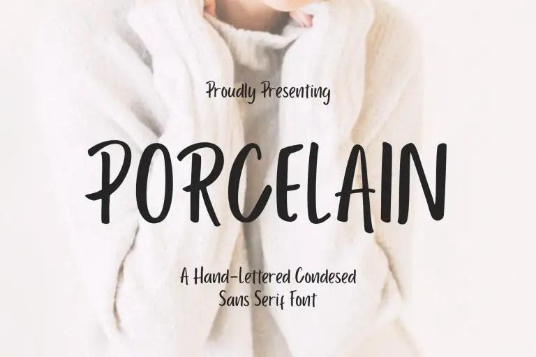 Porcelain Sans Serif01
