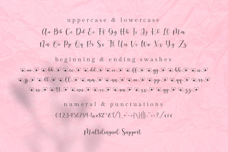 pretty hearty lovely script Font-3