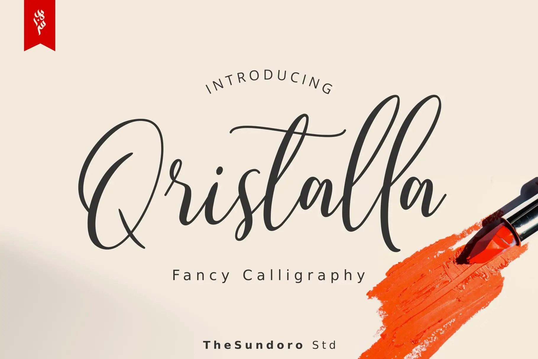 Qristalla Script Calligraphy Font-1