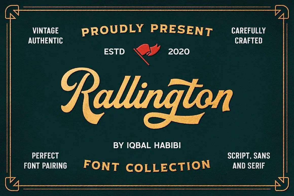Rallington Calligraphy Font-1