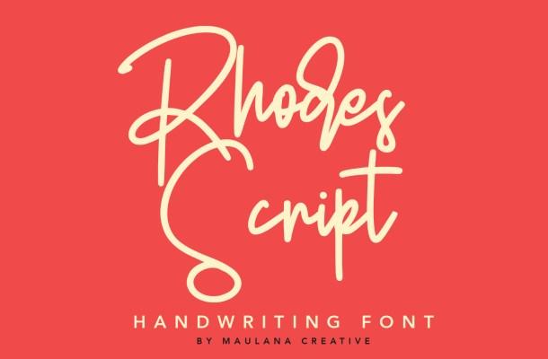 Rhodes Modern Script Signature Font