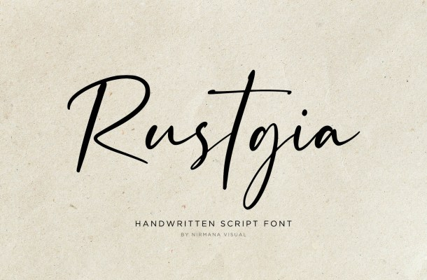 Rustgia  Script Handwritten Font