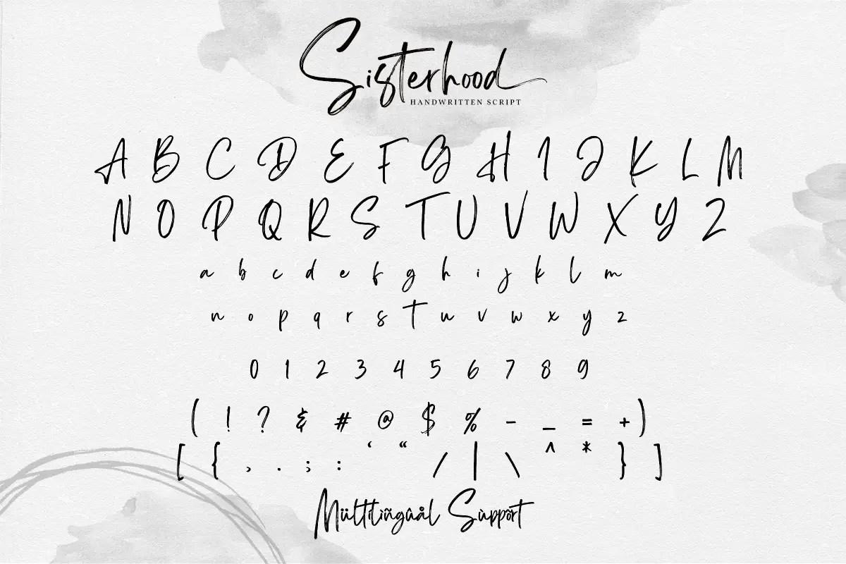 Sisterhood Brush Script Font-3