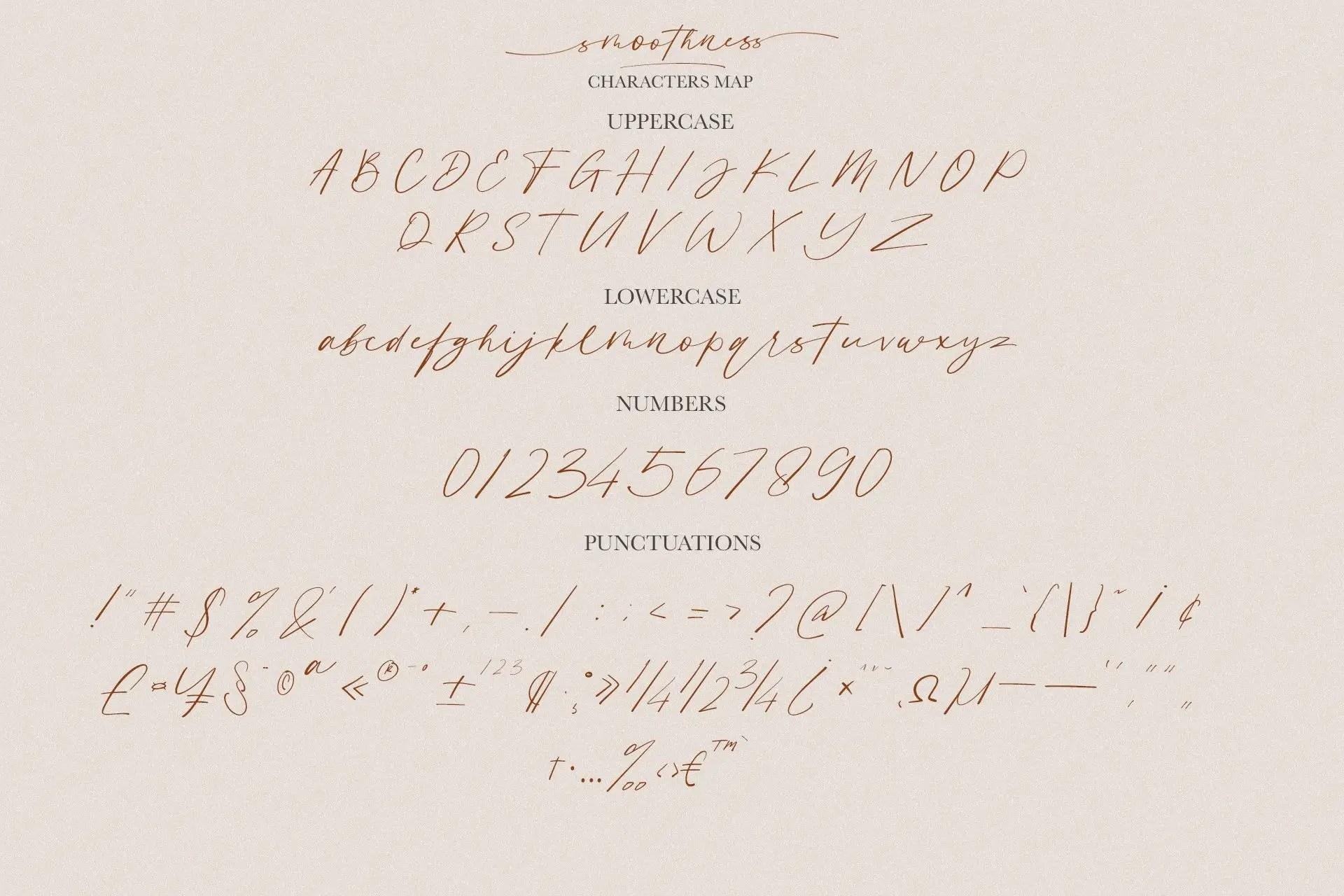 Smoothness Script Font-3