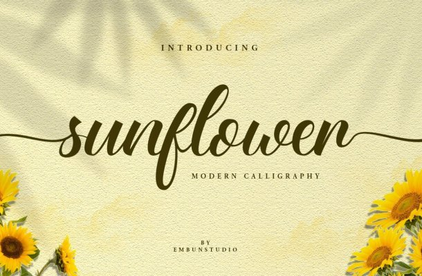 Sunflower Fields Calligraphy Font